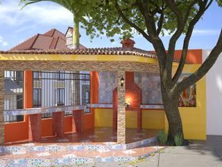 Diseño de asador : Terrazas de estilo  por Arq. Alejandro Garza ,