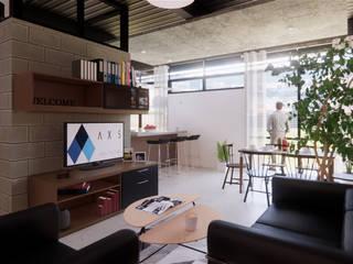 Departamentos Paraguay Salones industriales de AXS Arquitectos Industrial