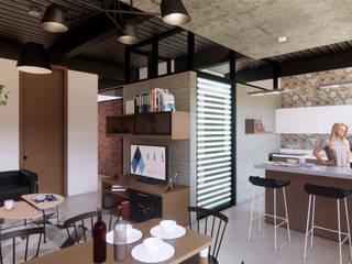 Departamentos Paraguay Comedores industriales de AXS Arquitectos Industrial
