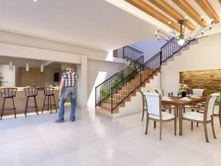 Remod. Casa LDZ Comedores mediterráneos de AXS Arquitectos Mediterráneo