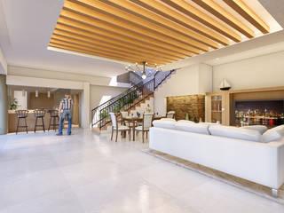 Remod. Casa LDZ Salones mediterráneos de AXS Arquitectos Mediterráneo