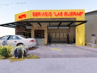 Autoservicio en Uruapan Michoacán Espacios comerciales de estilo moderno de AXS Arquitectos Moderno