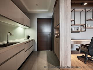 Hi+Design/Interior.Architecture. 寰邑空間設計 Koridor & Tangga Gaya Eklektik Kayu