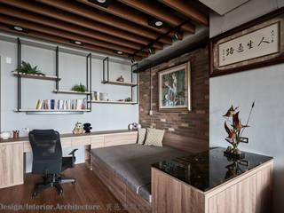 休憩區&閱讀區 根據 Hi+Design/Interior.Architecture. 寰邑空間設計 工業風 木頭 Wood effect