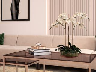 Квартира в Берлине Гостиная в стиле минимализм от Дизайнер Ольга Погорелова Минимализм