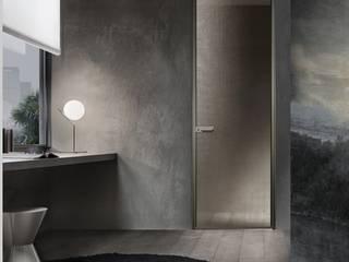 Rimadesio Zen moderne kozijnloze kamerhoge deur:  Glazen deuren door Noctum, Modern