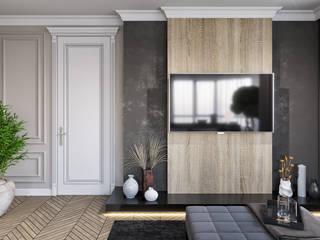 Квартира с библиотекой Спальня в классическом стиле от A Studiya by Elena Agafonova Классический