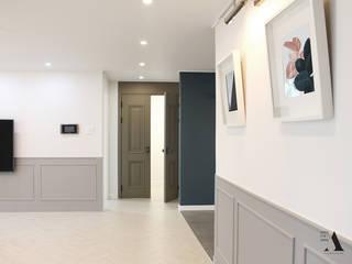 청주 현대대우 45평 아파트 인테리어 모던스타일 거실 by 올라운더(ALLROUNDER) 모던