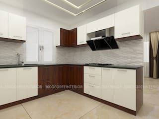 Kitchen:  Built-in kitchens by 360 Degree Interior