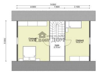 Дом из бруса 6*9 с ломаной крышей:  в . Автор – Свой Дом