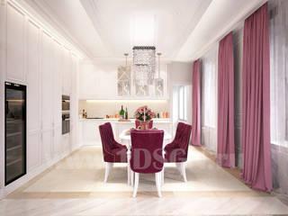 غرفة السفرة تنفيذ Дизайн студия 'Дизайнер интерьера № 1'