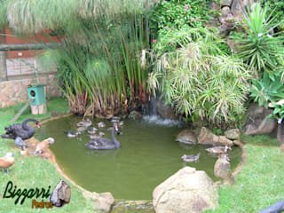 Laghetto da giardino in stile  di Bizzarri Pedras
