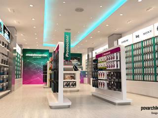 Diseño de Tiendas: Espacios comerciales de estilo  de Povarchik Studios Barcelona