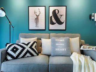 Phòng khách phong cách Bắc Âu bởi YL Modernize Home Enterprise Bắc Âu