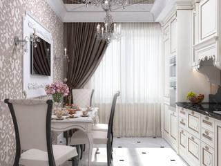 Квартира в классическом стиле с элементами ар-деко, площадью 73,3 кв.м. от Елена Алексеева Классический