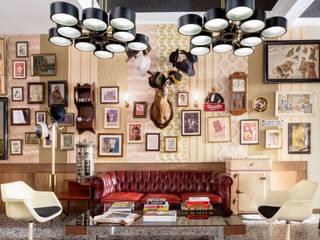 Decoración vintage y retro para un bar en Madrid: Espacios comerciales de estilo  de Guille Garcia-Hoz, interiorismo y reformas en Madrid, Clásico