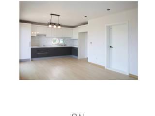 [인천 강화] 고급전원주택을 합리적으로 지은 주택 모던스타일 주택 by 한글주택(주) 모던
