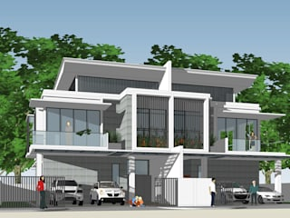 Duplex Residence:  Houses by LAarchitecture