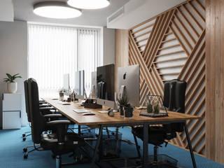 Edificios de oficinas de estilo  por Дизайн интерьера Киев|tishchenko.com.ua,