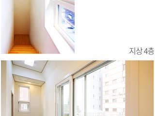 [서울 관악구] 자투리 땅의 기적 땅콩주택 미니멀리스트 미디어 룸 by 한글주택(주) 미니멀