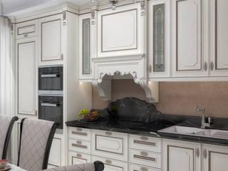 Квартира в классическом стиле с элементами ар-деко, площадью 73,3 кв.м. Кухня в классическом стиле от Елена Алексеева Классический