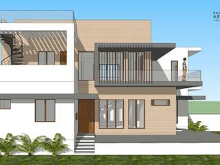 East Side View:  Bungalows by Ravi Prakash Architect