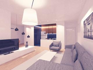 OCA/Mimarlık – //E Evi :  tarz Oturma Odası, Modern