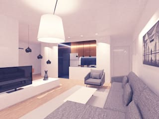 //E Evi Modern Oturma Odası OCA/Mimarlık Modern