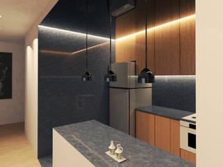 OCA/Mimarlık – //E Evi :  tarz Küçük Mutfak, Modern