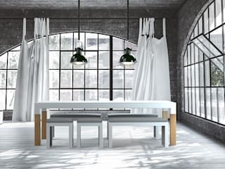 ONE TO SIT - indoor & outdoor furniture Dining roomTables الألومنيوم / الزنك White