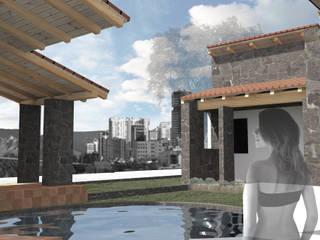 CASA HABITACIÓN CLEOPATRA: Albercas de jardín de estilo  por WAYAK' ARQUITECTOS