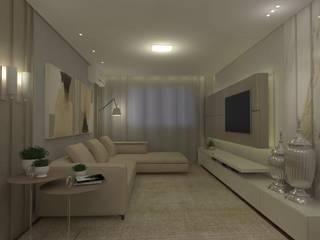 Sala intima: Salas de estar  por CG arquitetura e interiores,Clássico