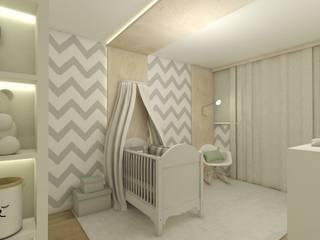 Quartinho do bebe: Quartos de bebê  por CG arquitetura e interiores,Minimalista