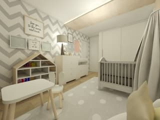 Quartinho do bebe: Quarto infantil  por CG arquitetura e interiores,Clássico