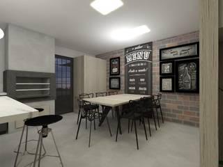 Cozinha rock´'n roll: Armários e bancadas de cozinha  por CG arquitetura e interiores,Moderno