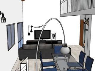 Casa Musico Livings industriales de G.S interiores Industrial