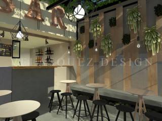 Cafe-Bar Calle64: Espacios comerciales de estilo  por Johana Velásquez