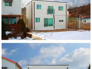 공간제작소(주) Modern conservatory Wood White