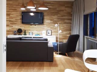 2-х комнатная квартира на Столетова: Гостиная в . Автор – Студия интерьерного дизайна MEL,