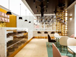 KAWIARNIA WEDEL: styl , w kategorii Bary i kluby zaprojektowany przez LESINSKA CONCEPT