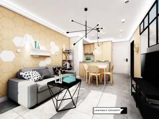 KAWALERKA NA WYNAJEM: styl , w kategorii Salon zaprojektowany przez LESINSKA CONCEPT