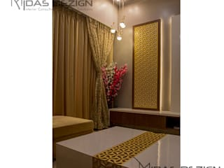 3BHK @ Alta Monte Malad (East):  Living room by Midas Dezign,Modern