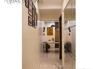 3BHK @ ALTA MONTE MALAD EAST:  Corridor & hallway by Midas Dezign,Asian