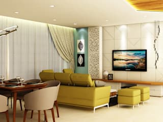 Living room by Midas Dezign, Minimalist