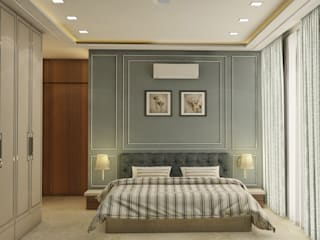 3BHK @ OBEROI ESQUIRE Classic style bedroom by Midas Dezign Classic