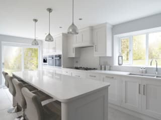 John Ladbury kitchen in Hertfordshire John Ladbury and Company Dapur built in White