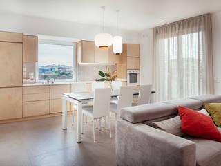 manuarino architettura design comunicazione Built-in kitchens Wood Wood effect