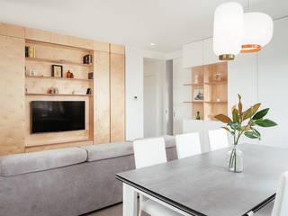 manuarino architettura design comunicazione Living room Wood White