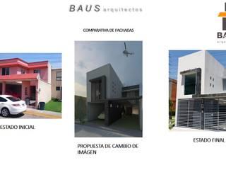 Comparativa de fachadas: Condominios de estilo  por BAUS arquitectos