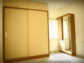 Bloomfield Ecstasy, Tellapur:  Small bedroom by Meticular Interiors LLP,